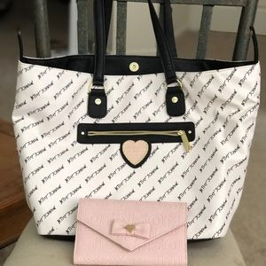 Betsey Johnson large tote and wallet